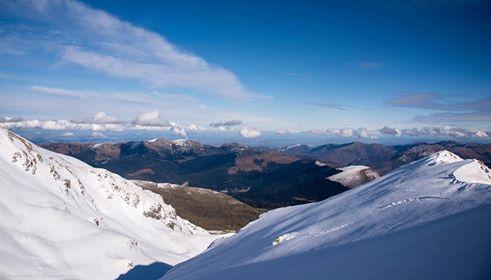Belle ambiance et bonne neige sur le haut de Coste Oueillère