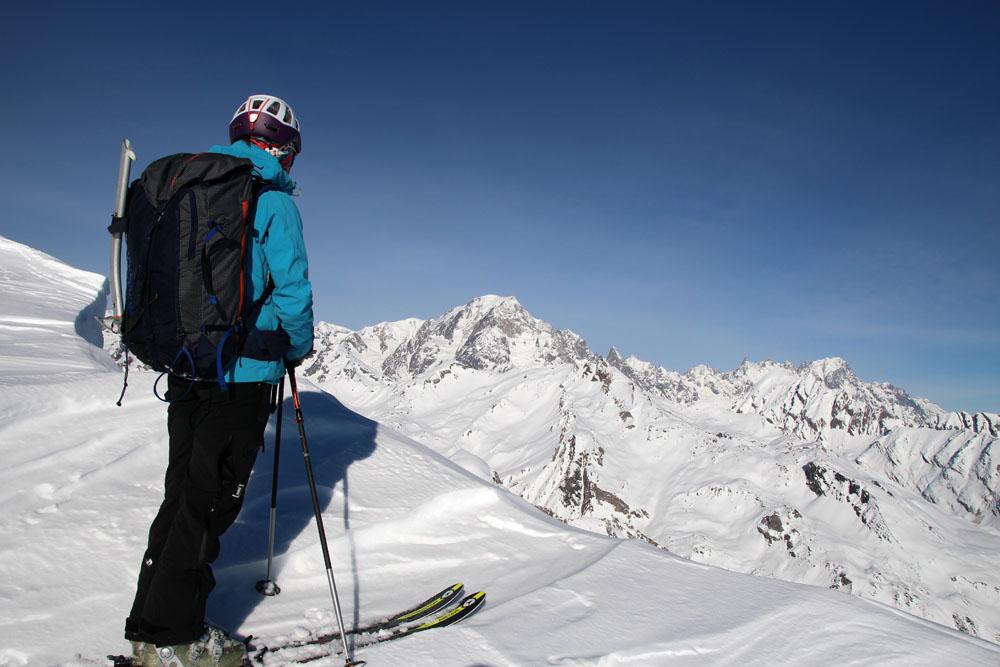 Au sommet avec vue imprenable sur le Mont Blanc